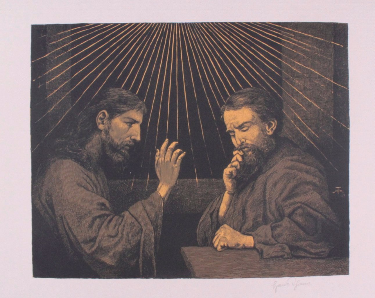 Hans Thoma 1839-1924. Jesus und Ritodemus (1903)-1