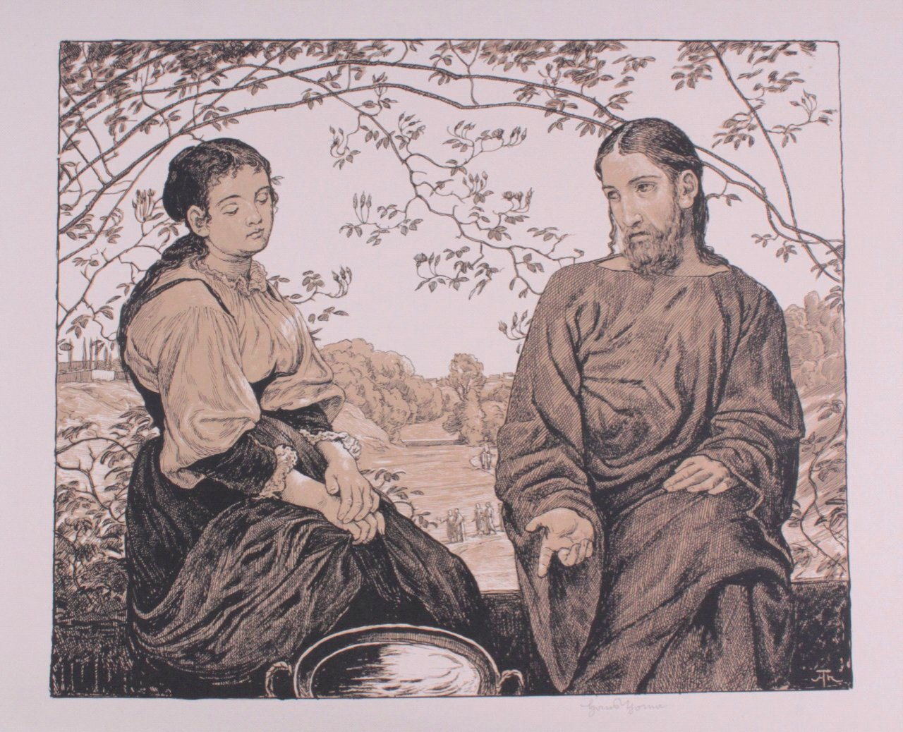Hans Thoma 1839-1924. Jesus und Ritodemus (1903)-2