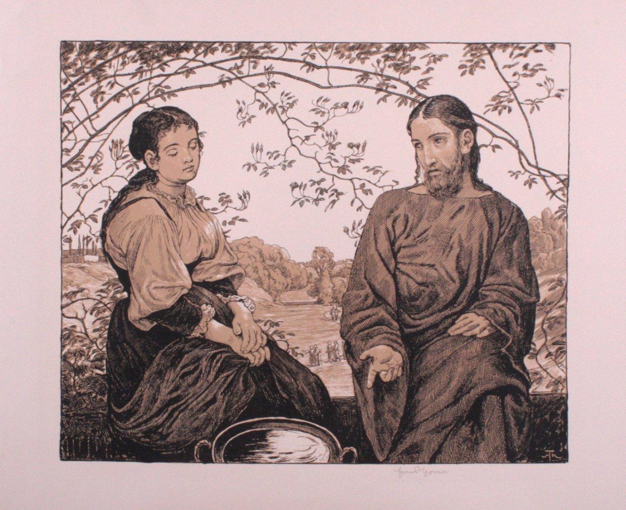 Hans Thoma 1839-1924. Christus und die Samariterin (1903)