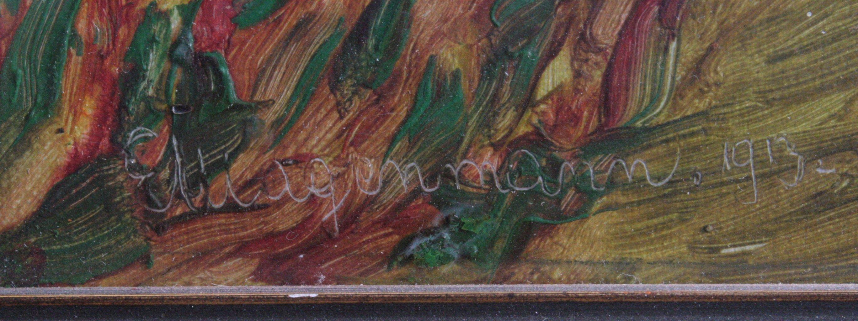 """W. Wagenmann ?-?, """"Sommerliche Landschaft""""-1"""