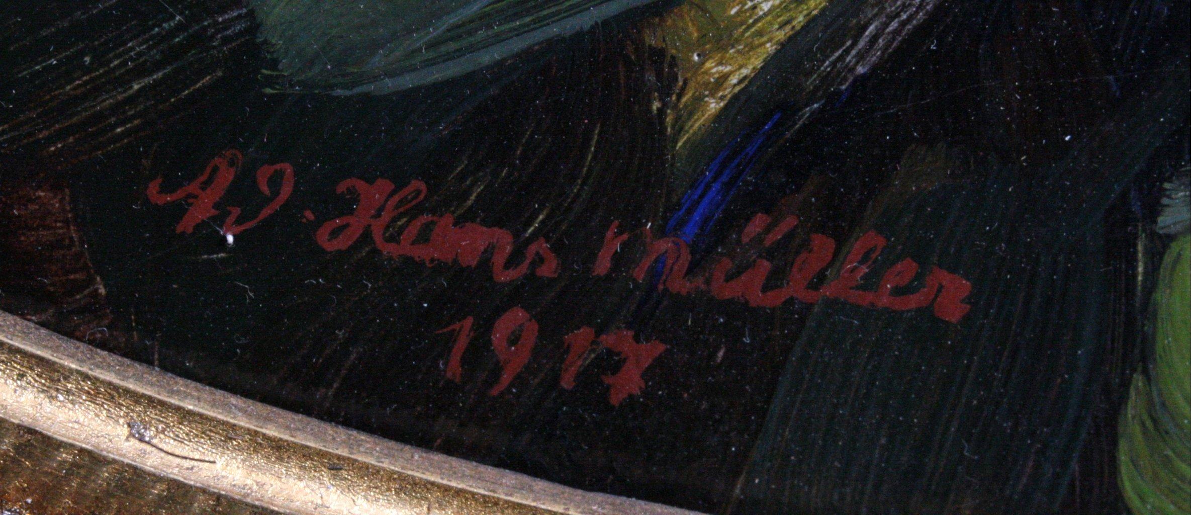 """Hans Adolf Müller (1888-1934), """"Blumenstilleben""""-1"""
