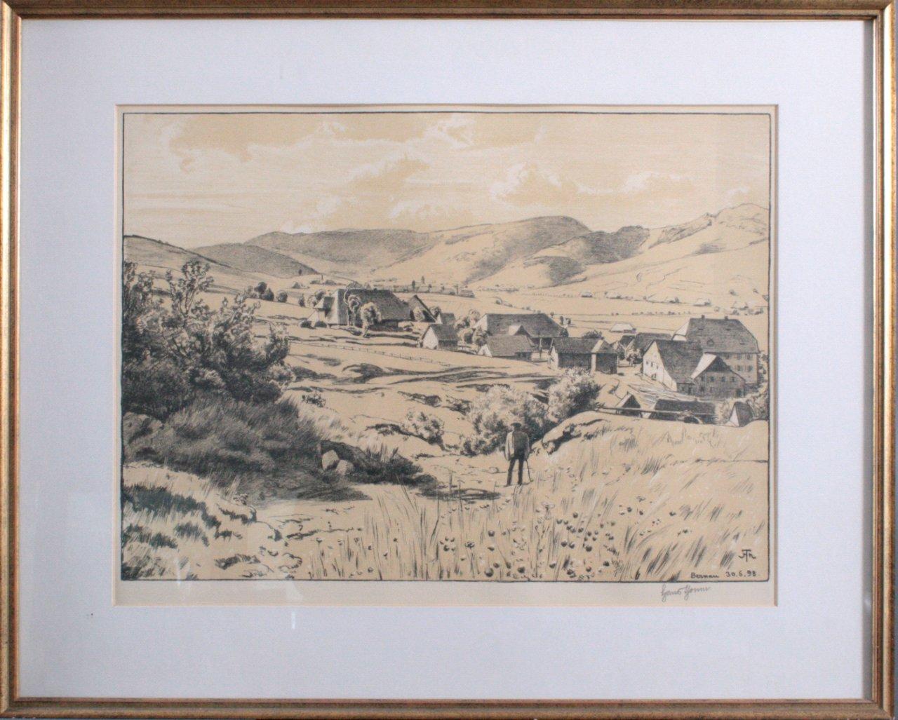 """Hans Thoma 1839-1924. """"Bernau 30.06.98"""""""