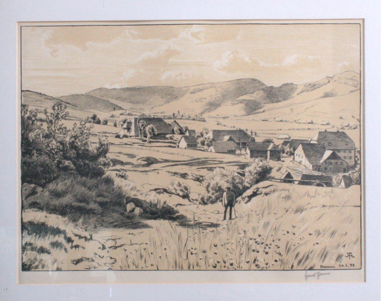 """Hans Thoma 1839-1924. """"Bernau 30.06.98""""-1"""