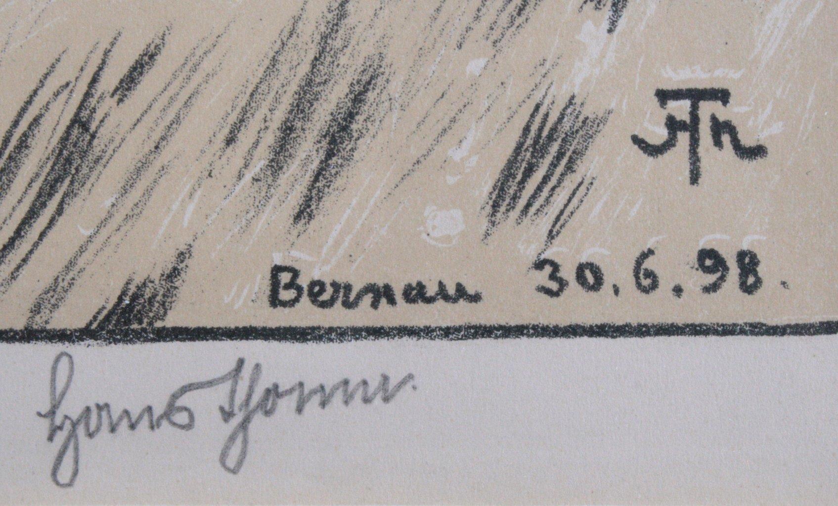 """Hans Thoma 1839-1924. """"Bernau 30.06.98""""-2"""