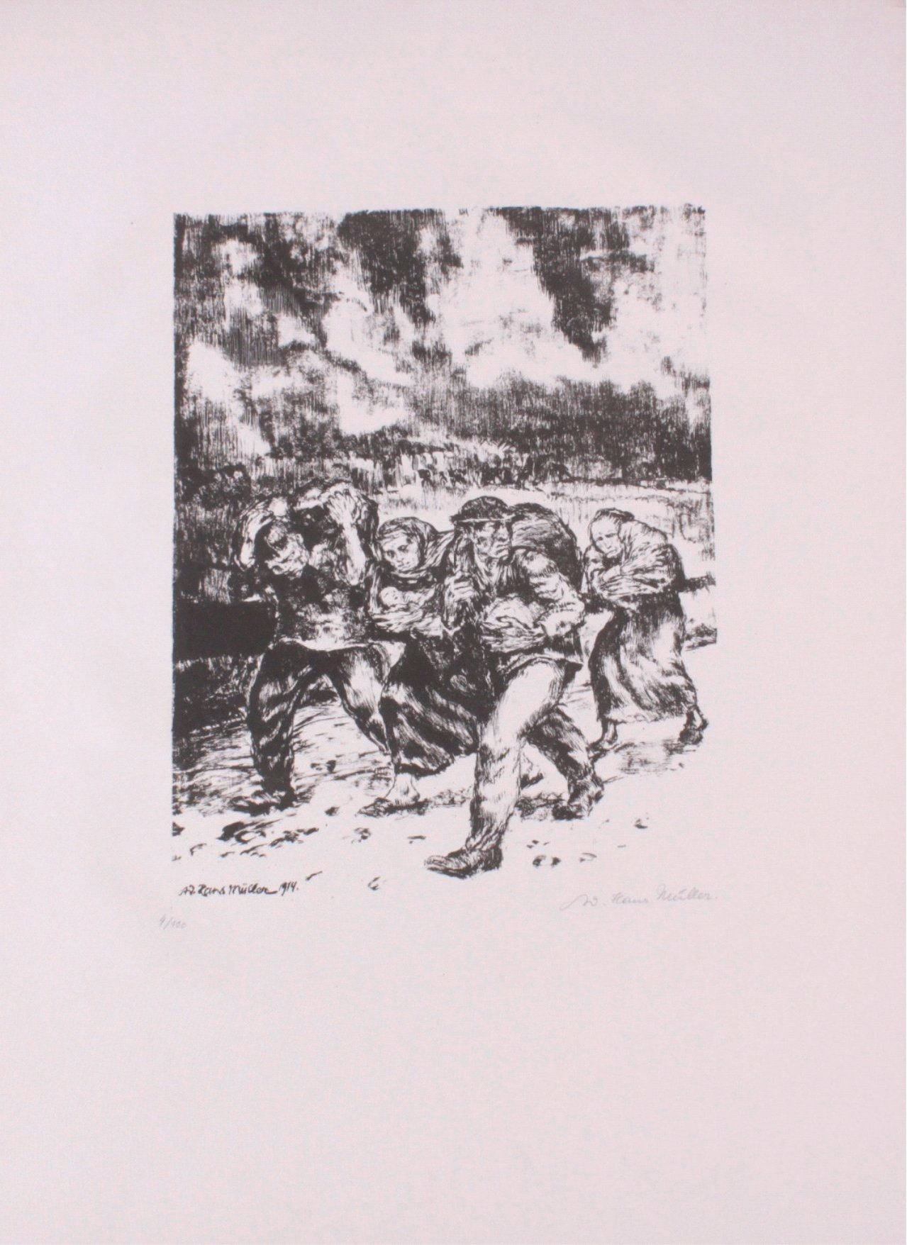 Hans Adolf Müller (1888-1934), Lithographie-1