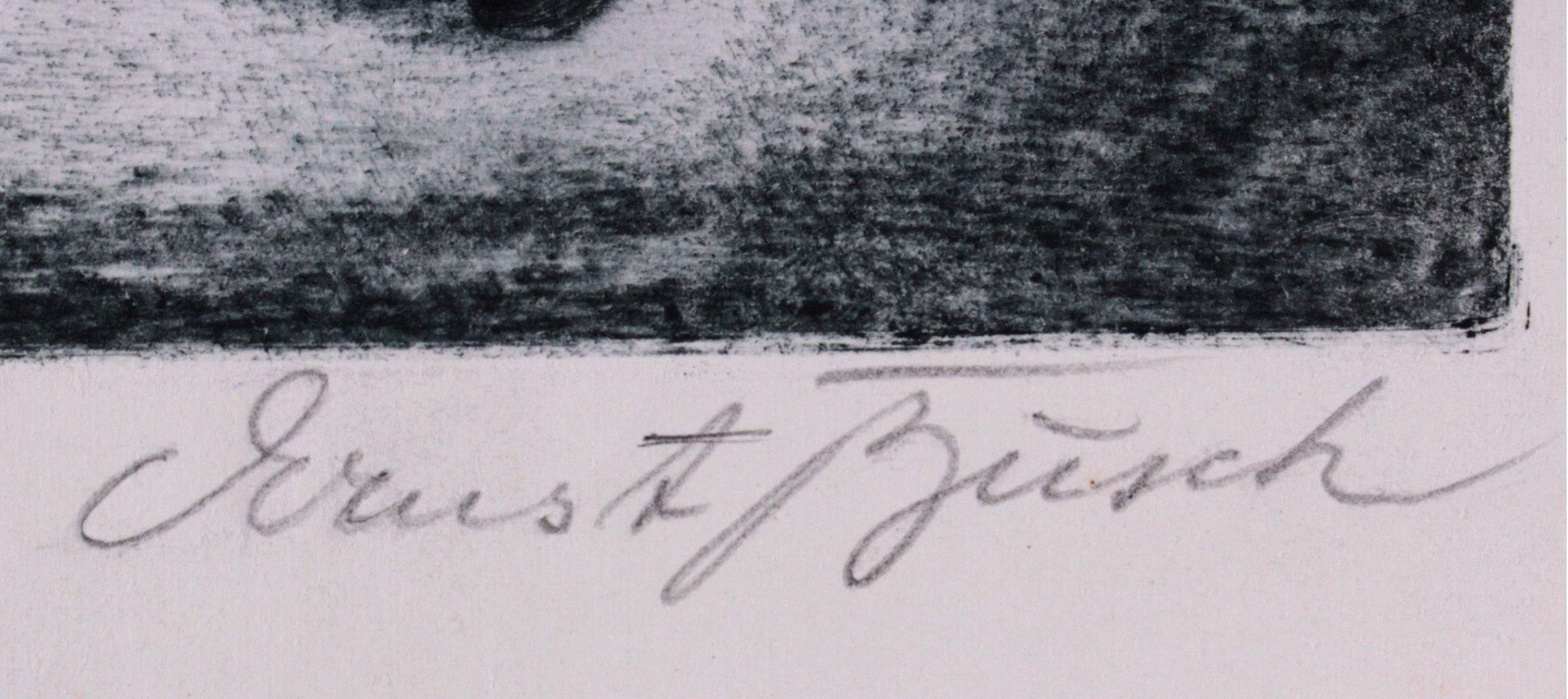 Ernst Busch, Pierette mit Rosen-1