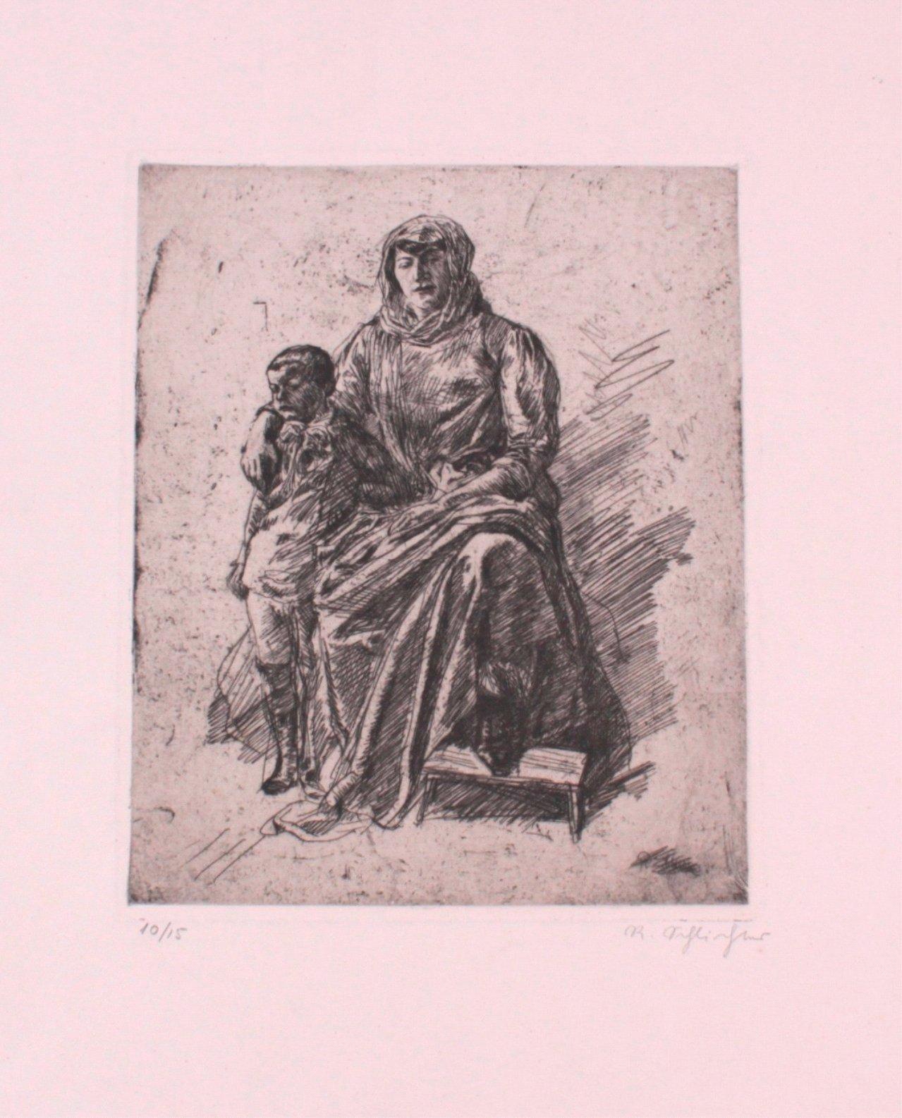 Rudolf Schlichter 1890-1955. Mutter mit Kind-1