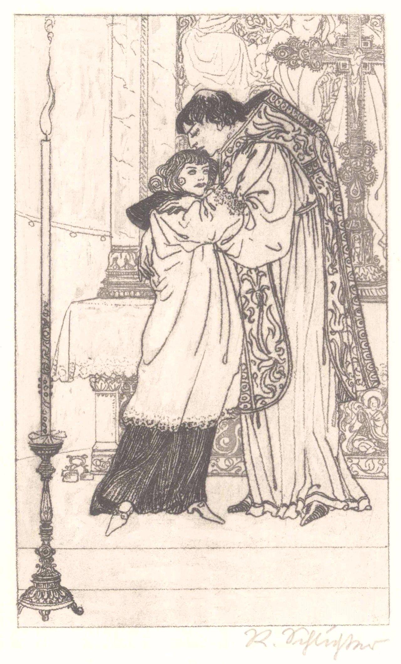 """Rudolf Schlichter 1890-1955. """"Am Altar"""""""