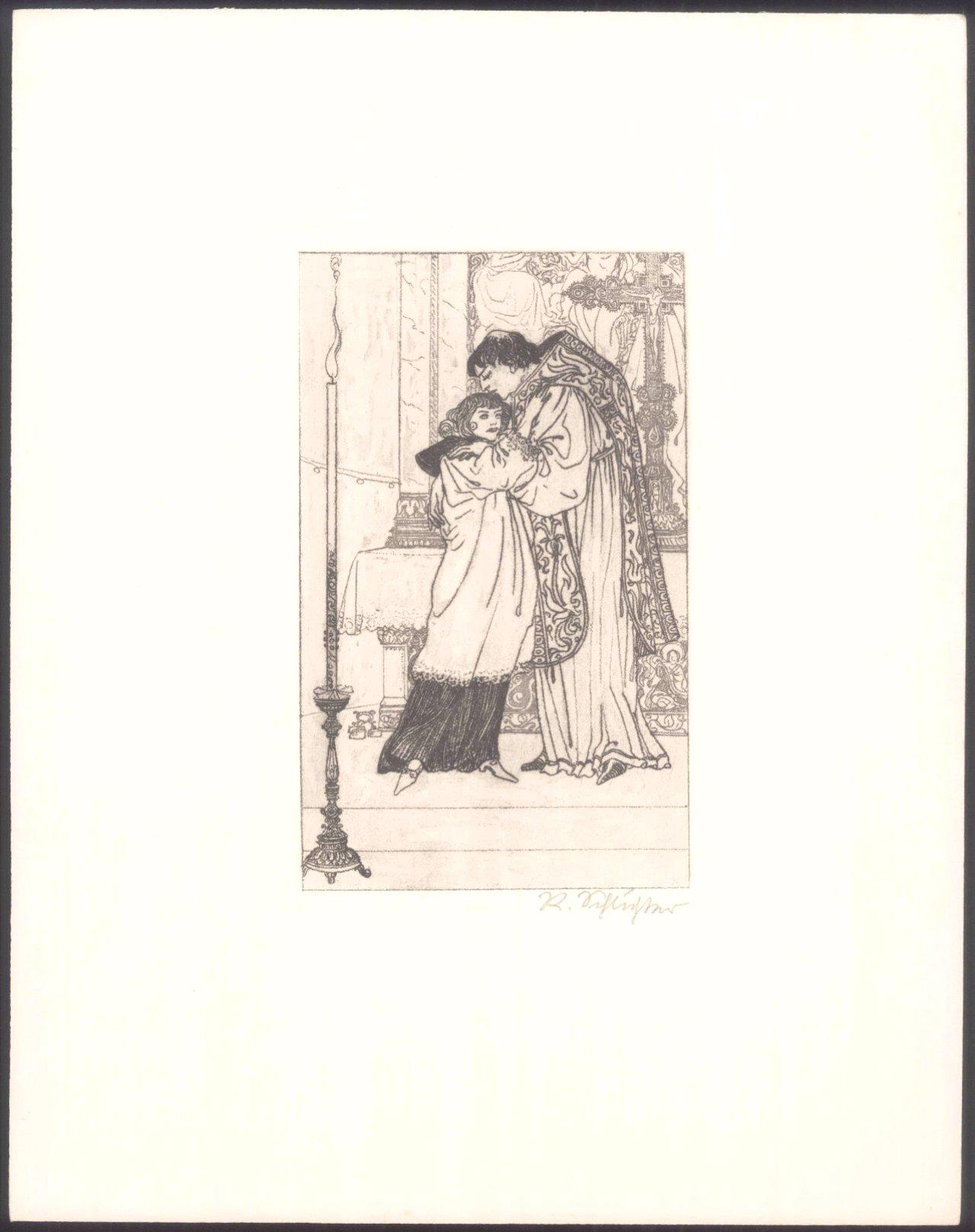 """Rudolf Schlichter 1890-1955. """"Am Altar""""-1"""