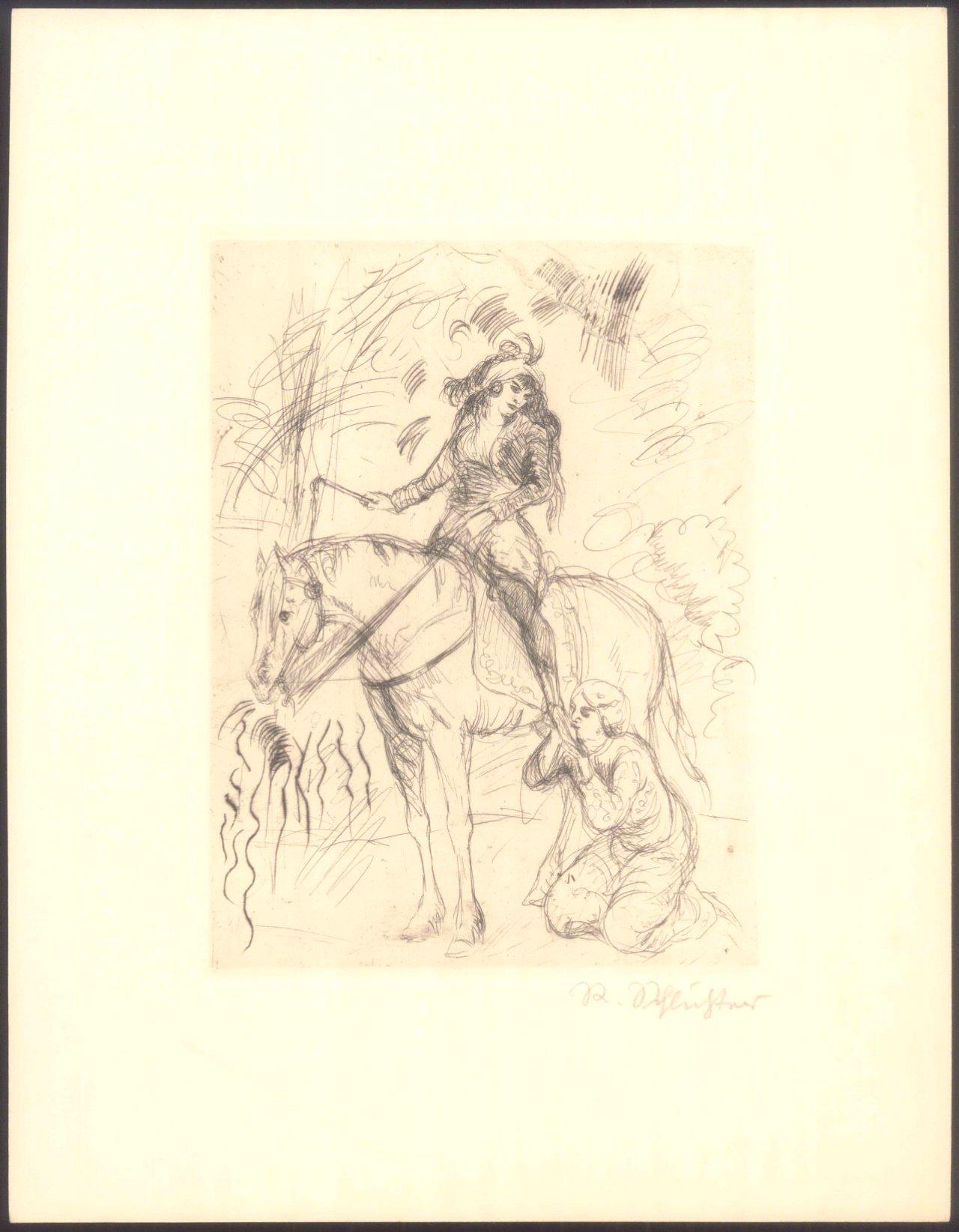 Rudolf Schlichter 1890-1955. Die Angebetete-1