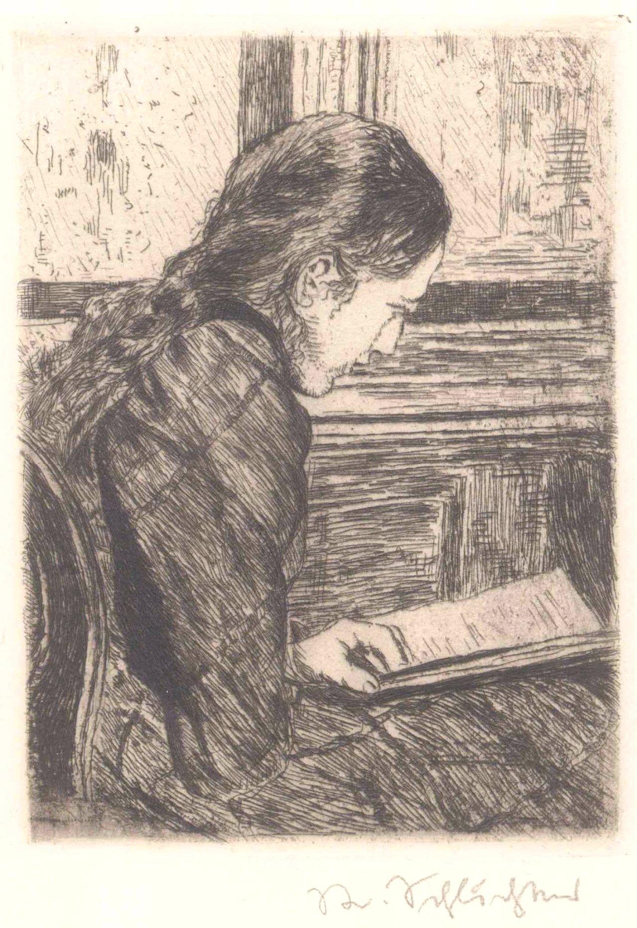 Rudolf Schlichter 1890-1955. Lesendes Mädchen