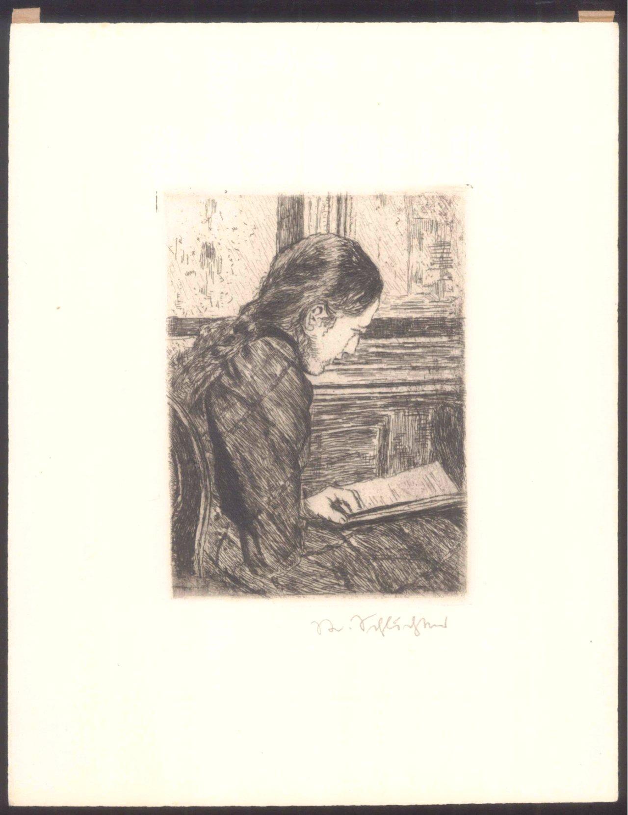 Rudolf Schlichter 1890-1955. Lesendes Mädchen-1