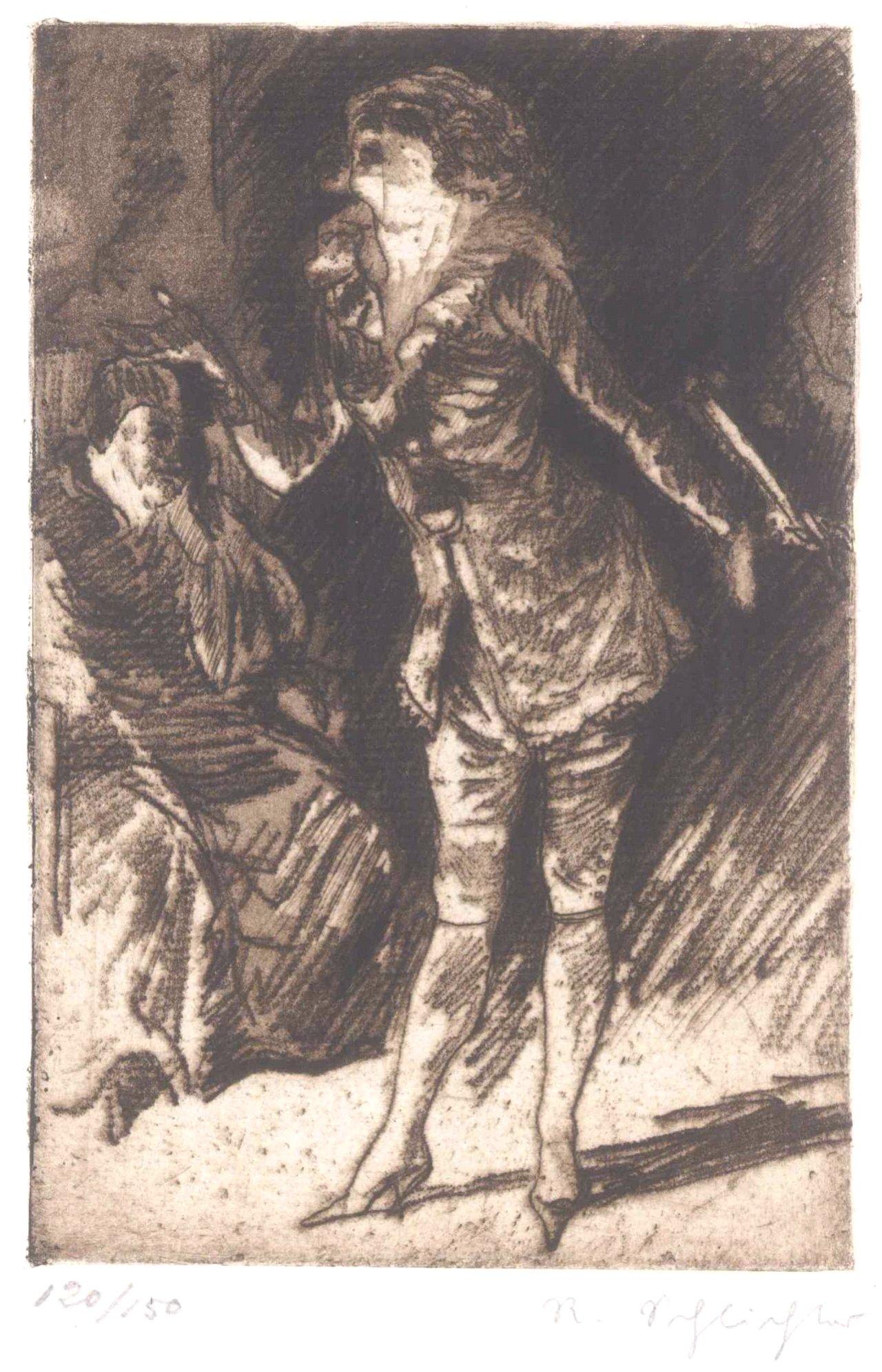 Rudolf Schlichter 1890-1955. Die Sängerin und der Abbé