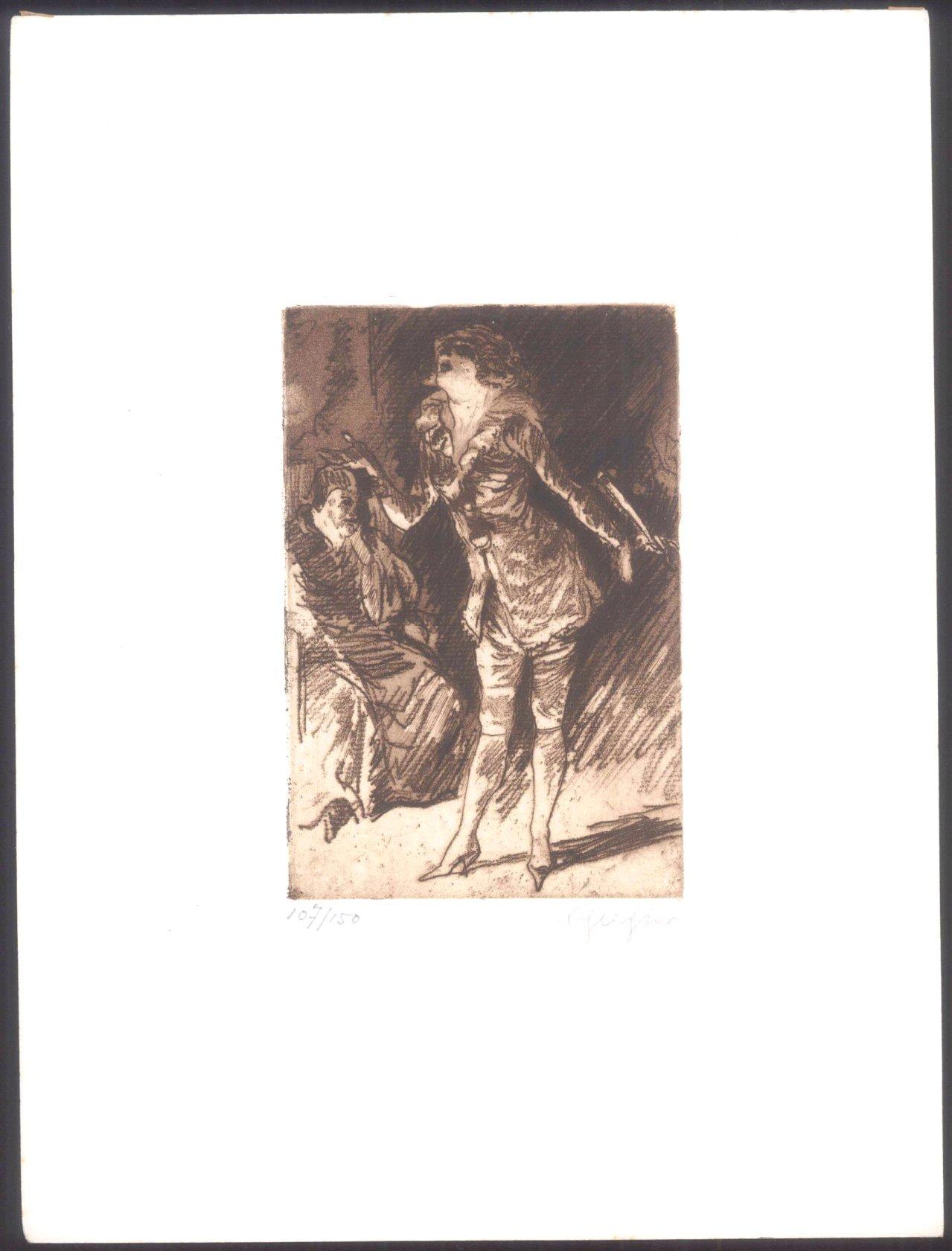 Rudolf Schlichter 1890-1955. Die Sängerin und der Abbé-1