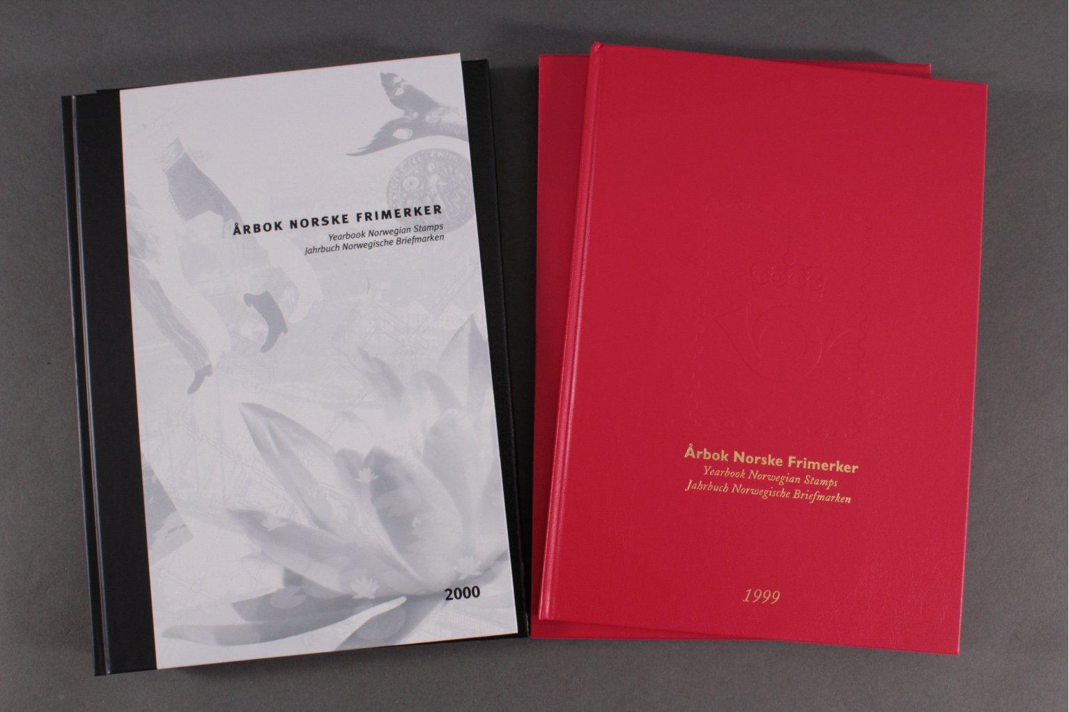 NORWEGEN 1999 und 2000, postfrische Jahrbücher