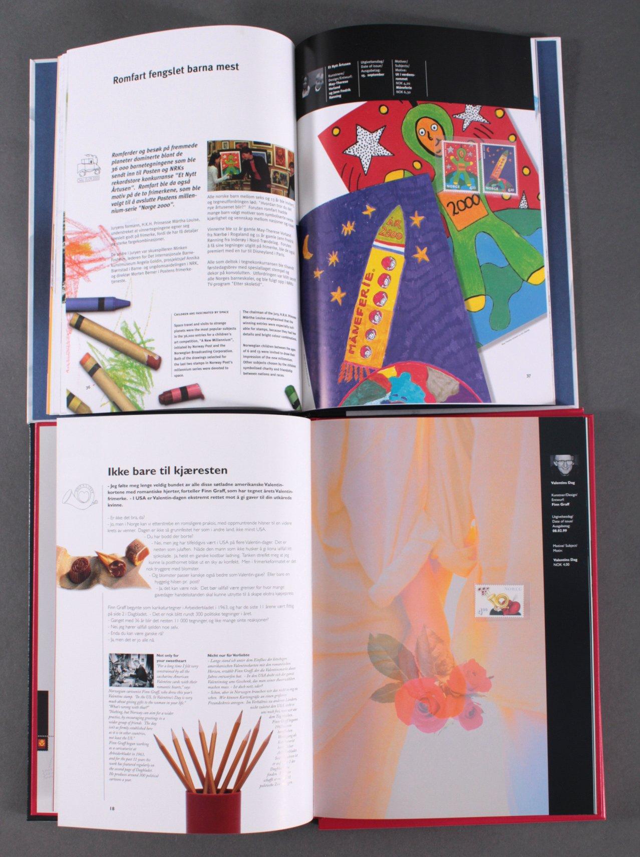 NORWEGEN 1999 und 2000, postfrische Jahrbücher-1