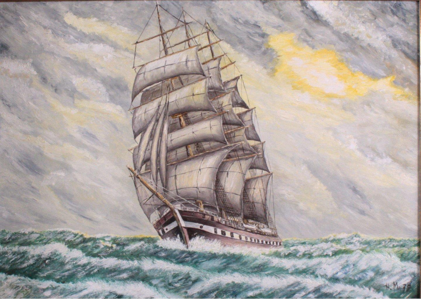 Dreimaster auf hoher See-1