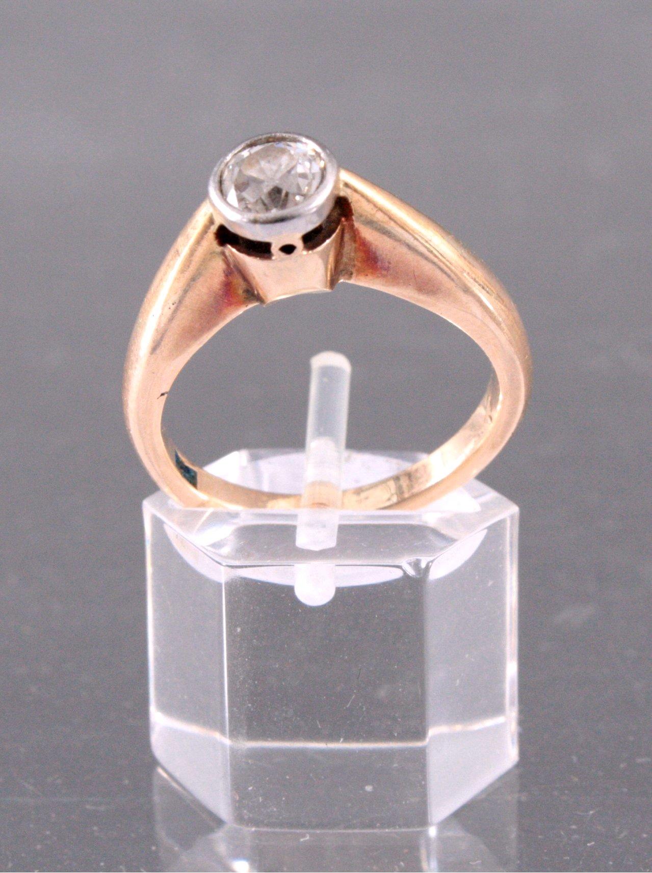 Damenring mit Diamant