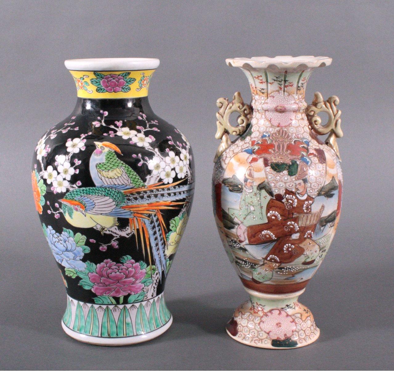 2 Japanische Vasen, 20 Jh.