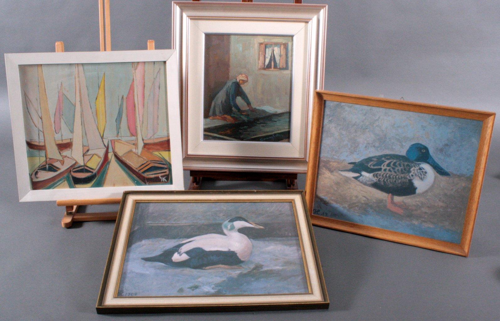 Vier Gemälde, Unterschiedlicher Künstler