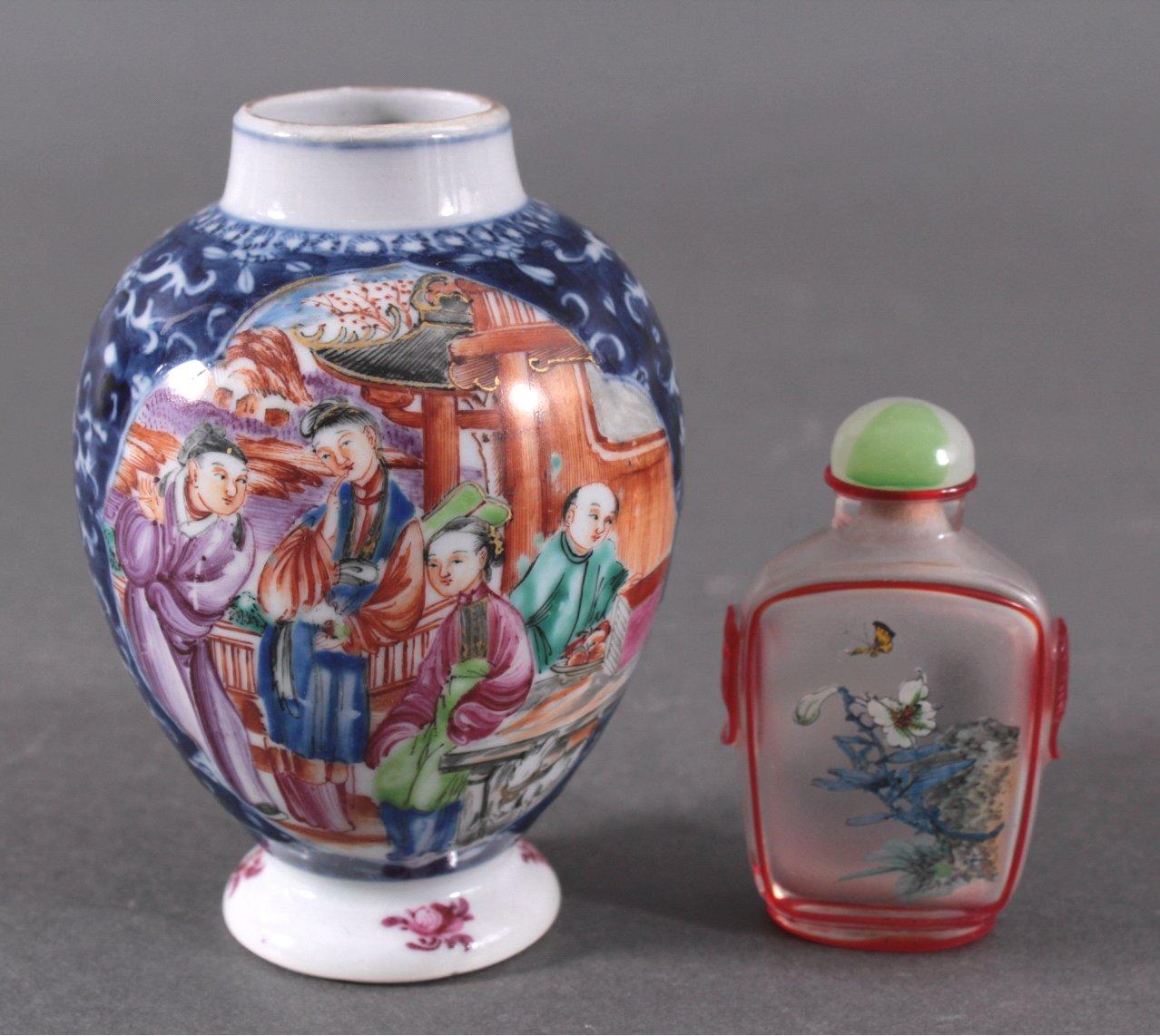 Konvolut Asiatisches Porzellan und Snuff Bottle, 20 Jh.-1