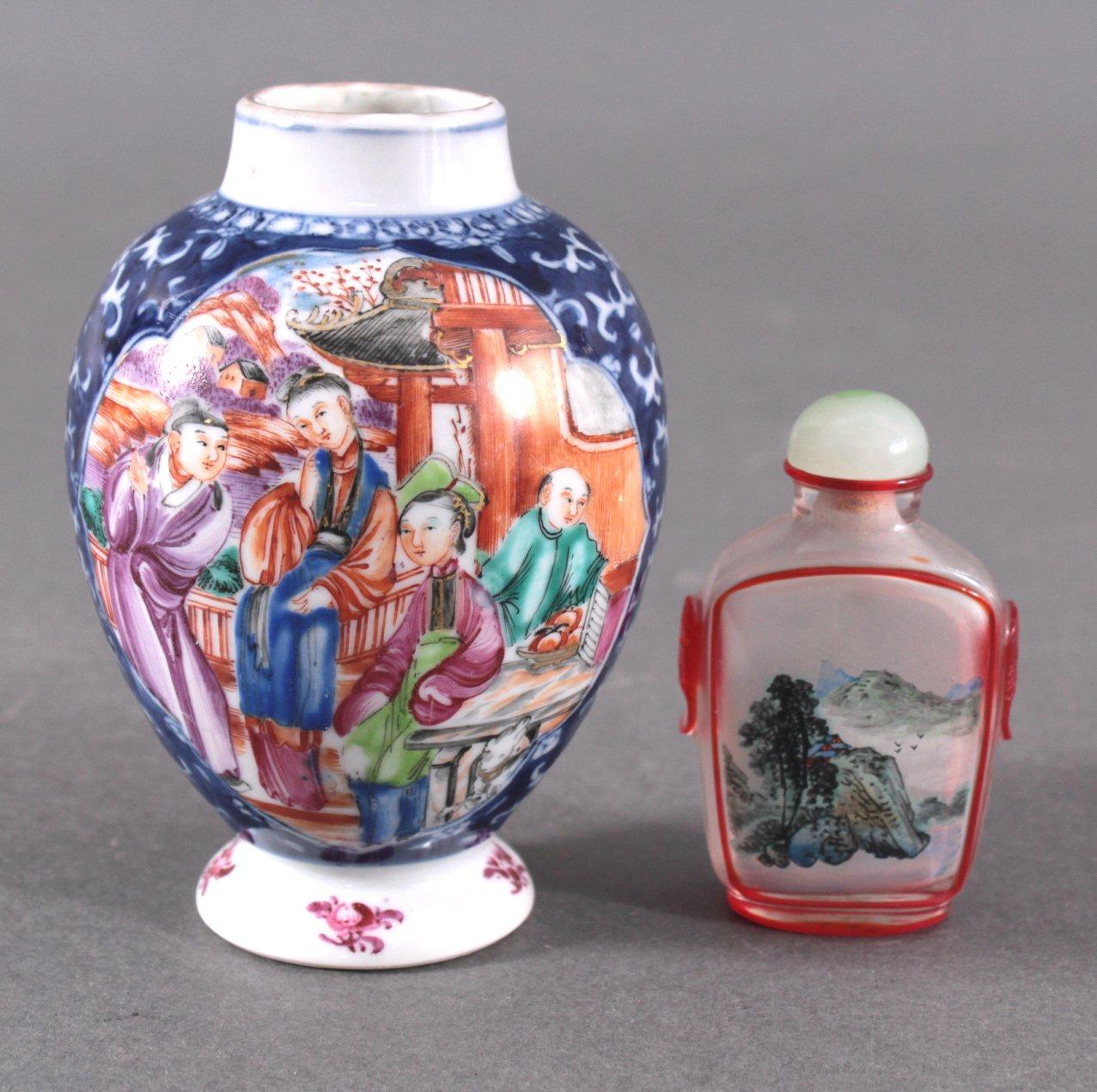 Konvolut Asiatisches Porzellan und Snuff Bottle, 20 Jh.-2