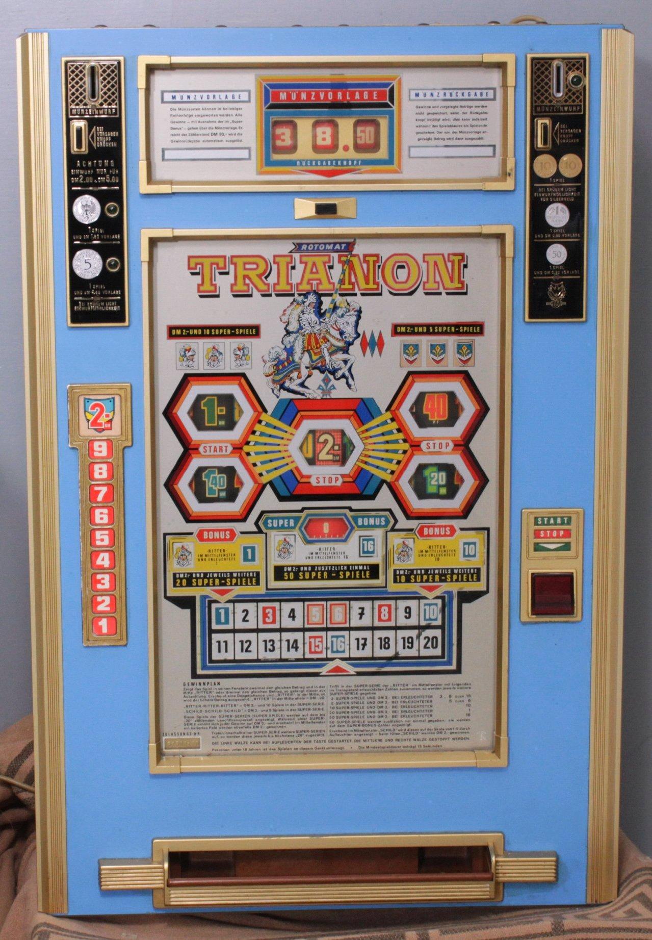 Geldspielautomat aus den ca. 70er/80er Jahren