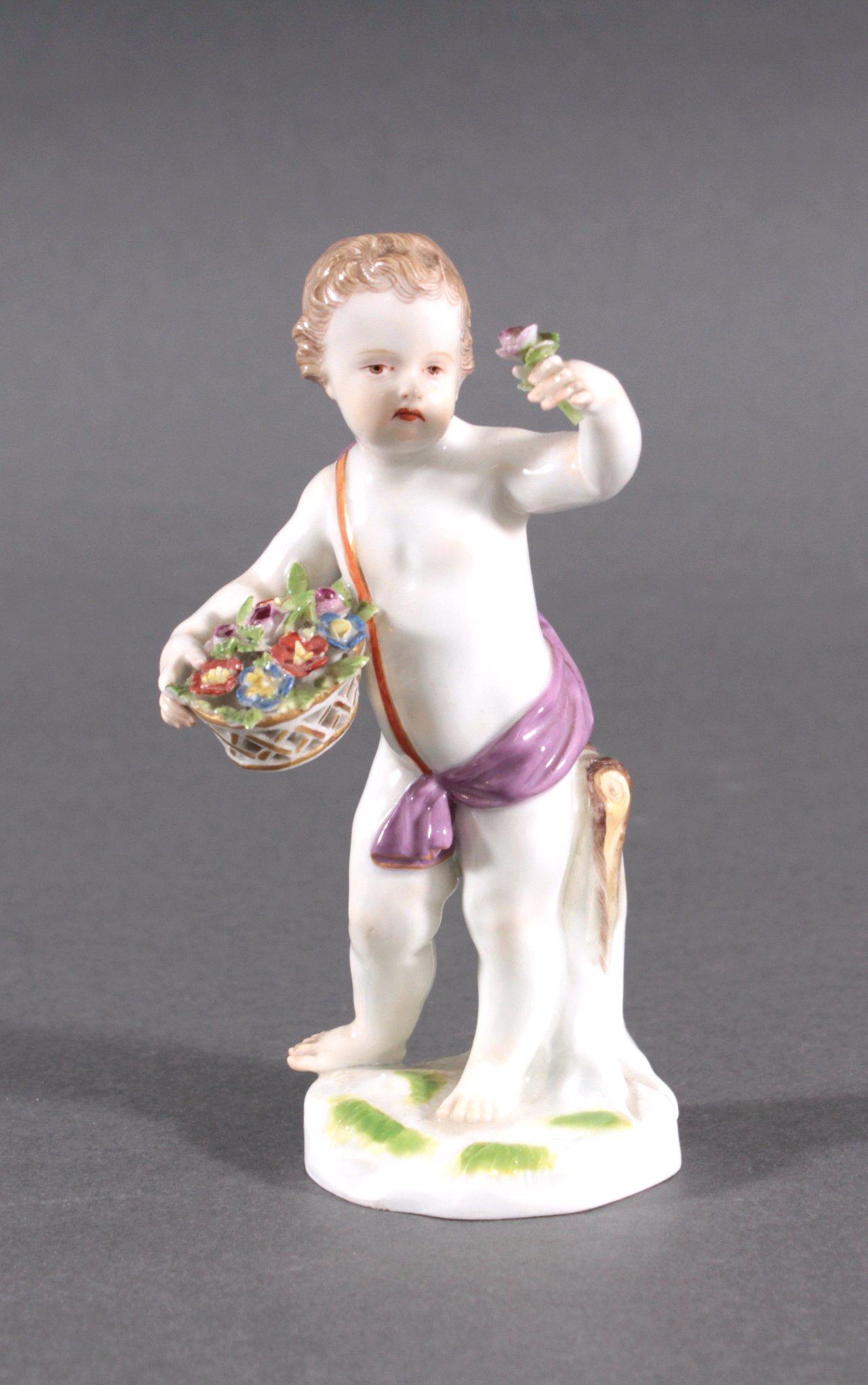 Putto, Porzellanfigur Meissen Ende 19. Jh.