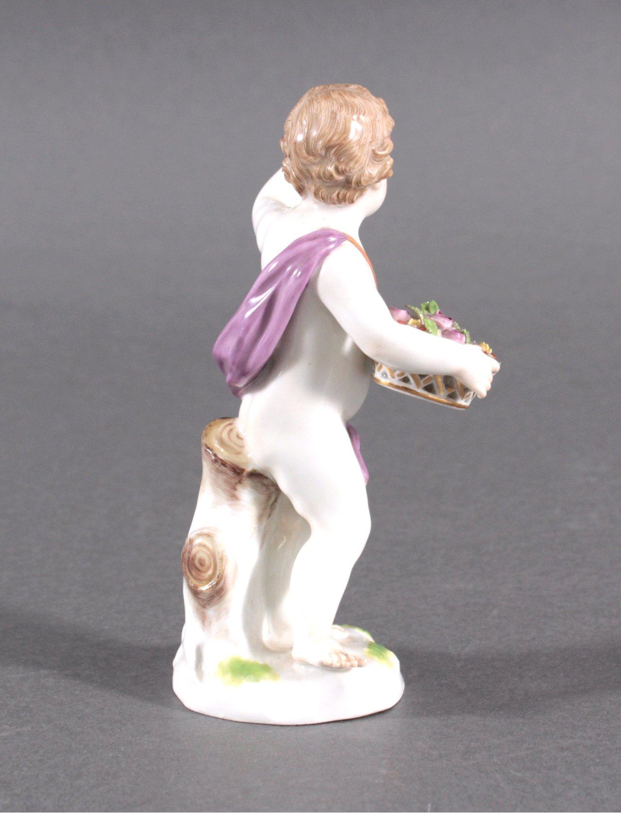 Putto, Porzellanfigur Meissen Ende 19. Jh.-2