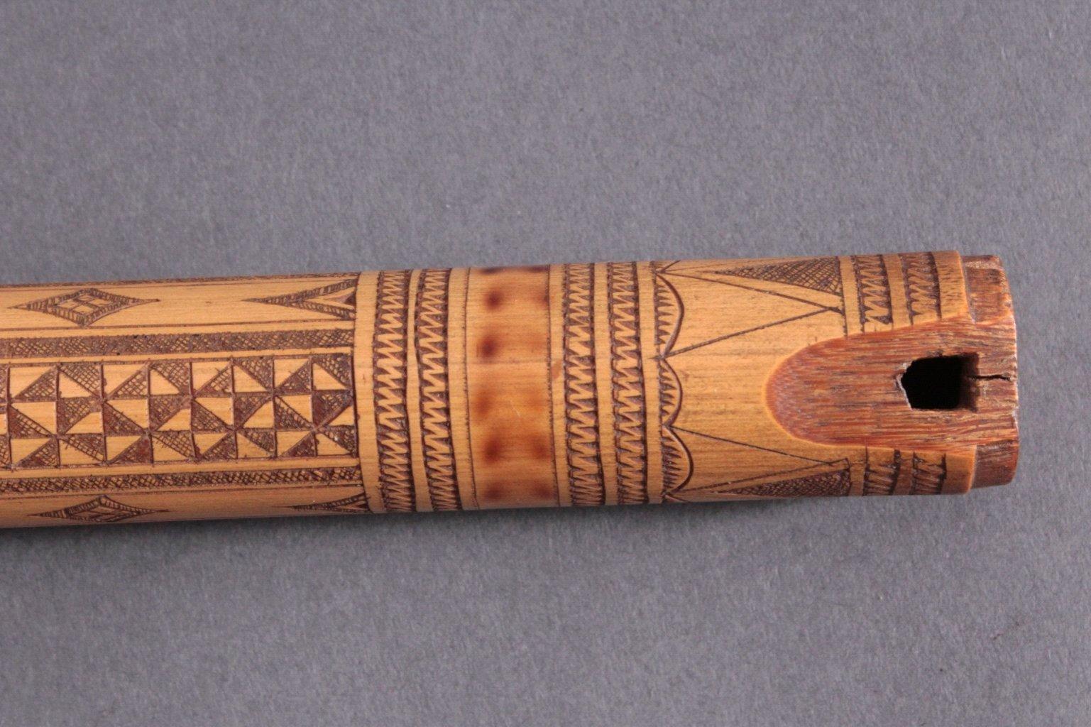 Bambus Flöte um 1900-3