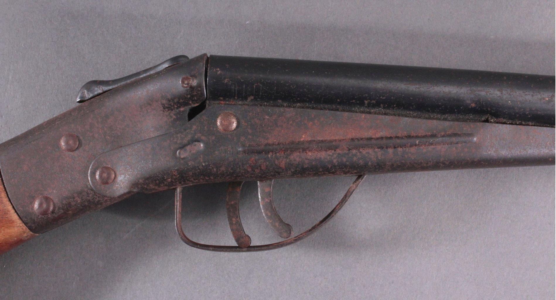 Spielzeuggewehr 1. Hälfte 20. Jh. Doppelflinte-2
