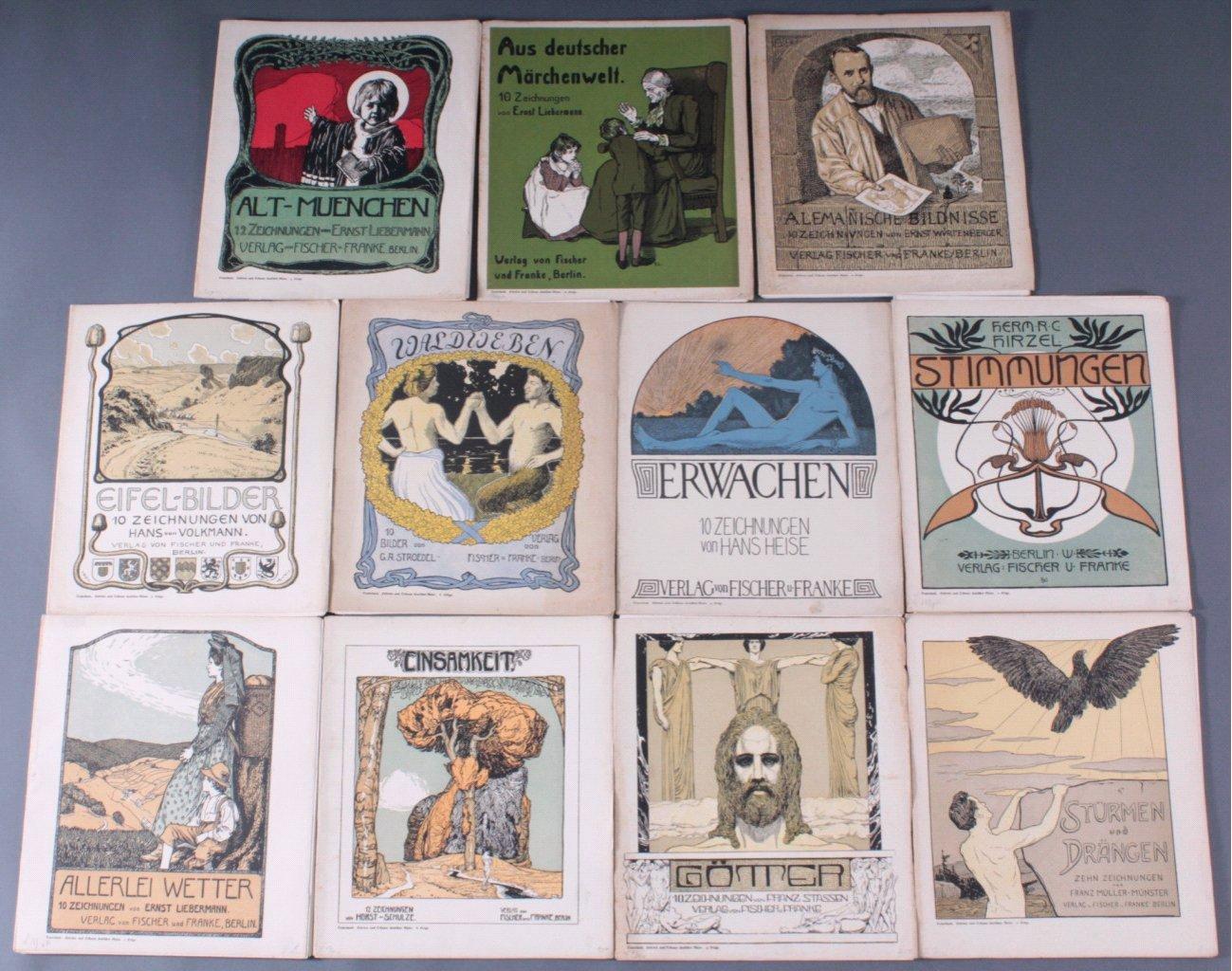 Sammlung Teuerdank, Folge 1 bis 11. Berlin um 1900 bis 1920