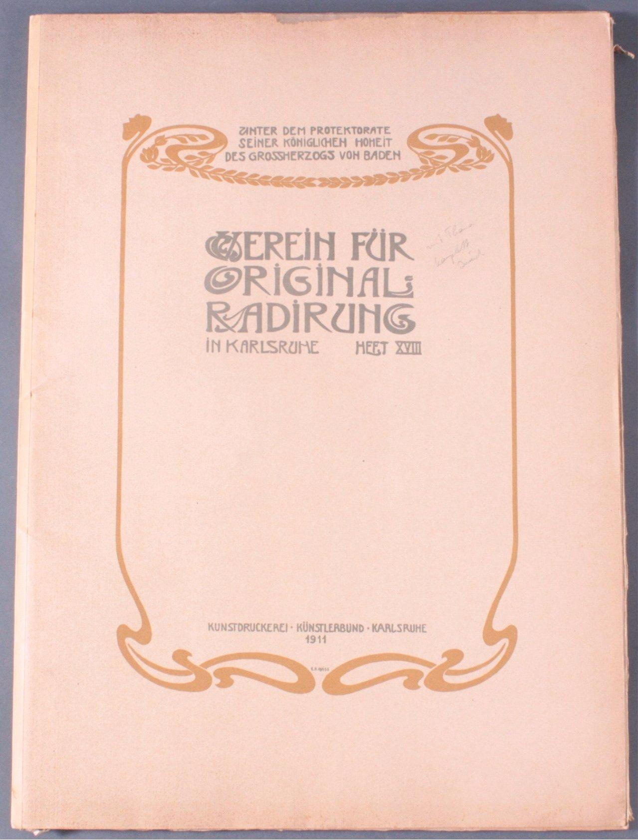 Verein für Original-Radierung Karlsruhe. Heft XVII, 1911