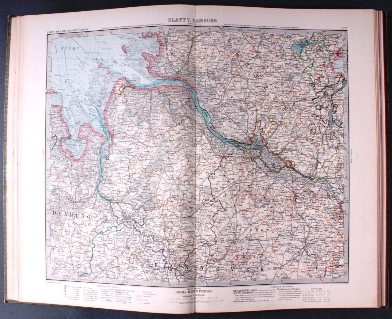 Vogels Karte des Deutschen Reichs