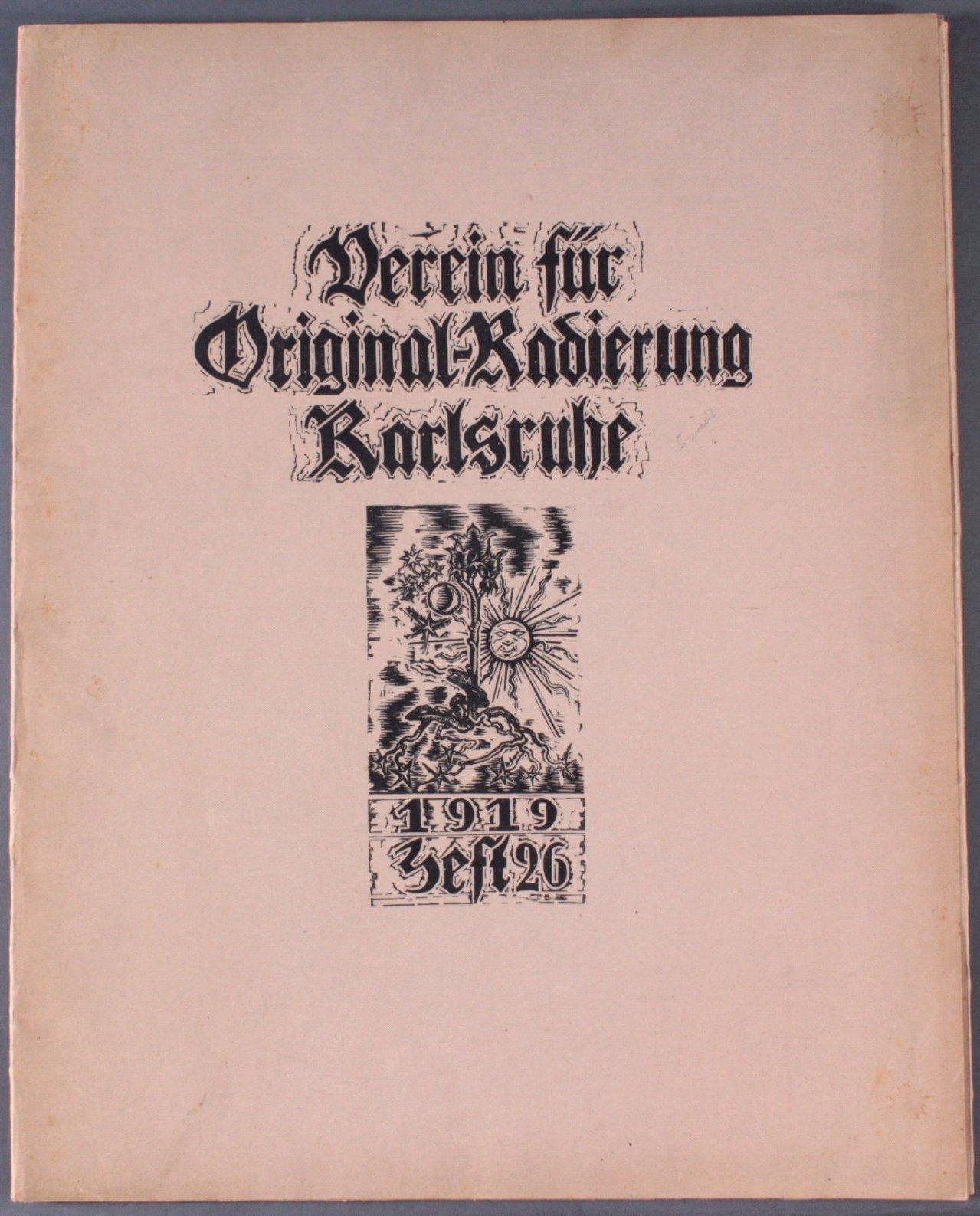 Verein für Original-Radierung Karlsruhe. Heft 26, 1919