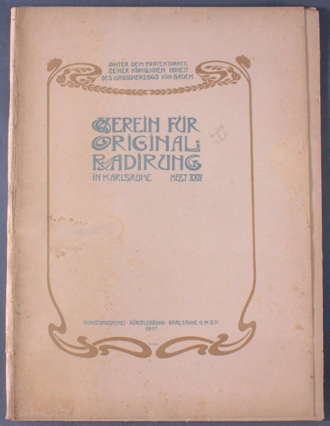 Verein für Original-Radierung Karlsruhe. Heft XXIV, 1917