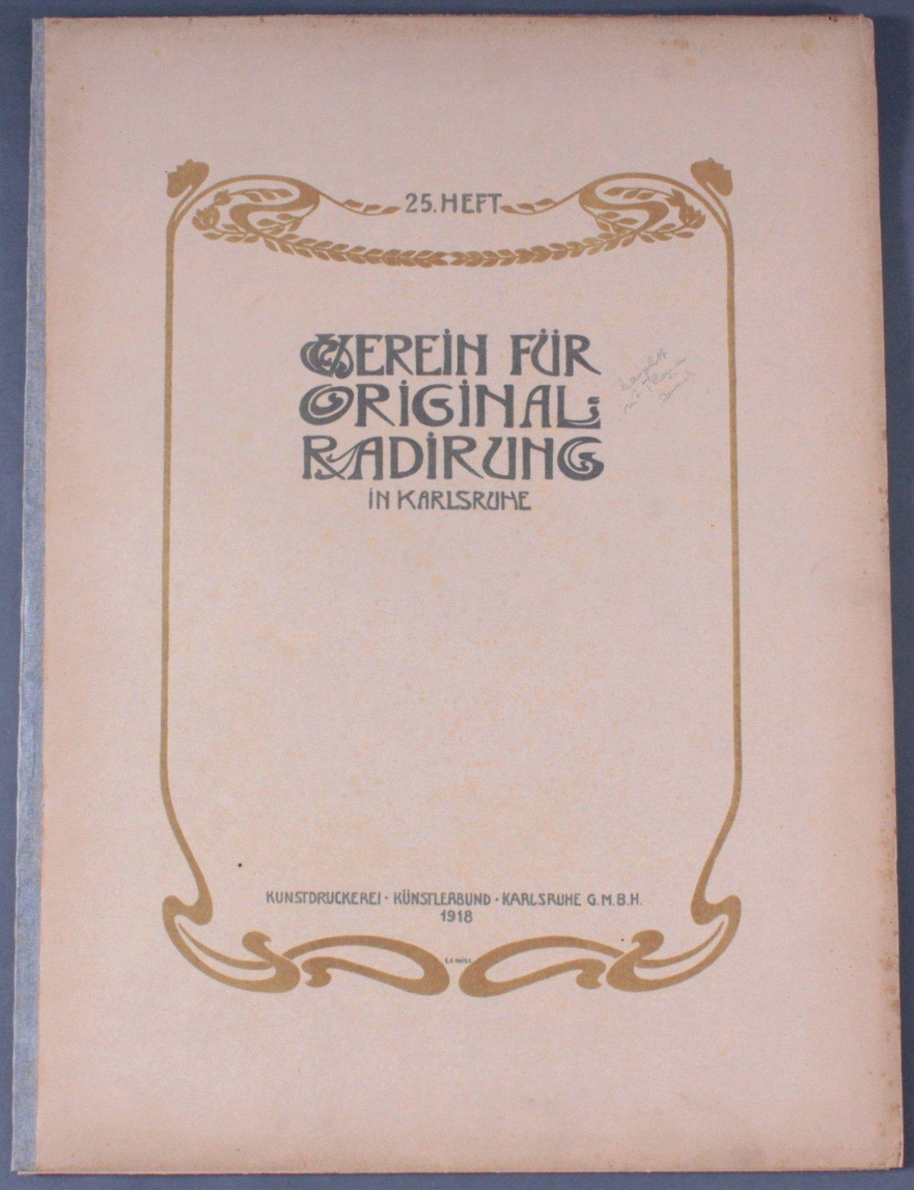 Verein für Original-Radierung Karlsruhe. Heft 25, 1918