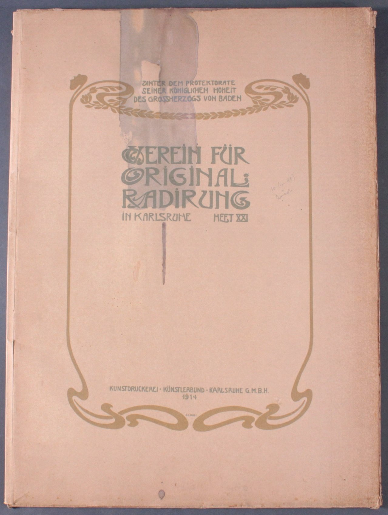 Verein für Original-Radierung Karlsruhe. Heft XXI, 1914