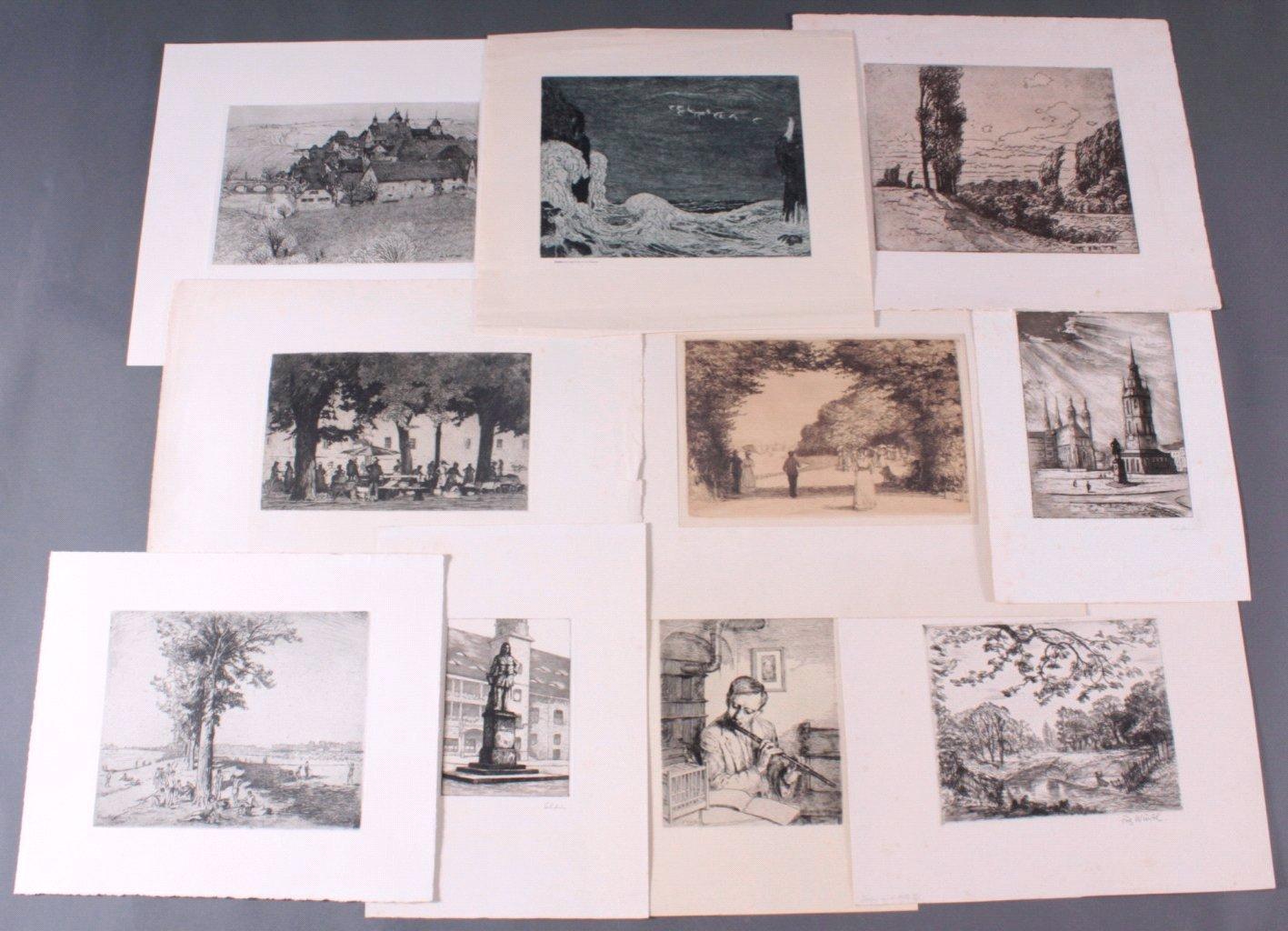 Zehn Radierungen ca. 1910-1920