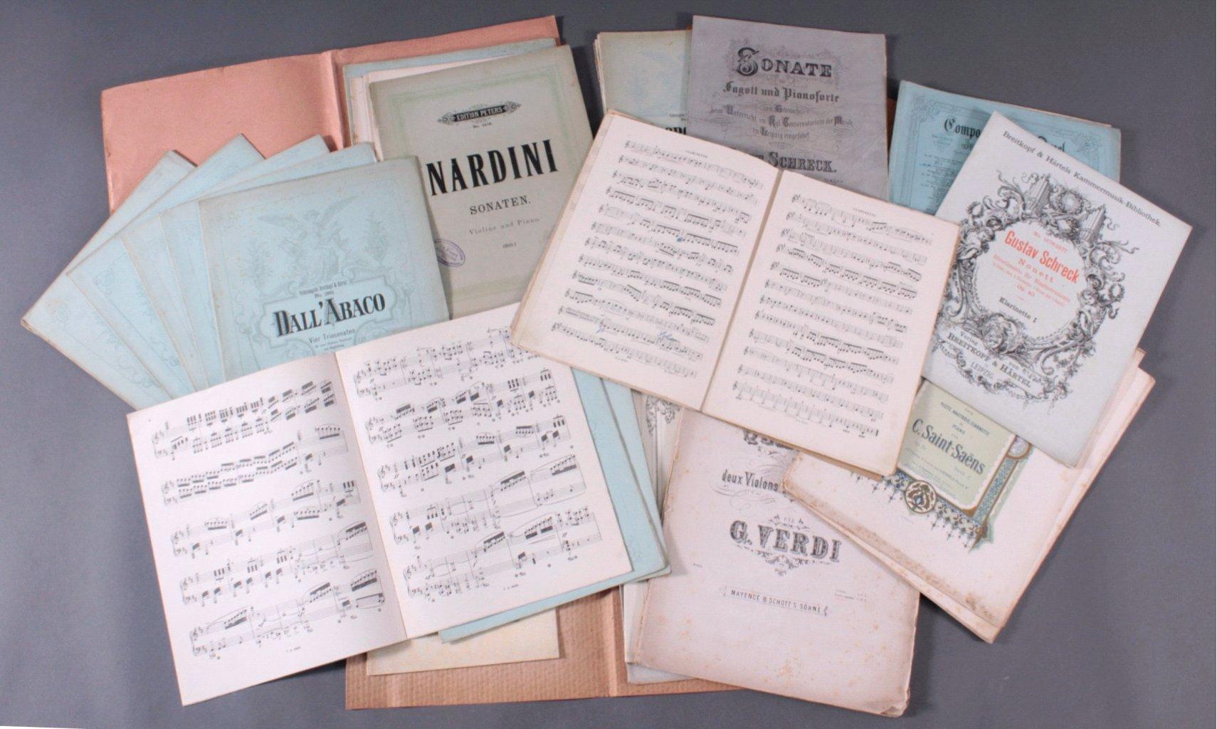 Konvolut Musik-Noten für Klavier und Streichinstrumente-1