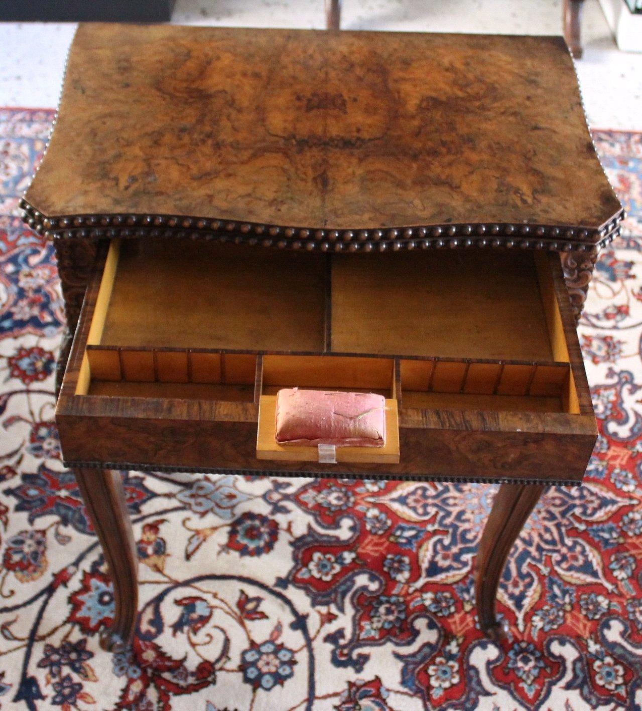 Nähtisch/Spieltisch, um 1850, Louis Philippe-3