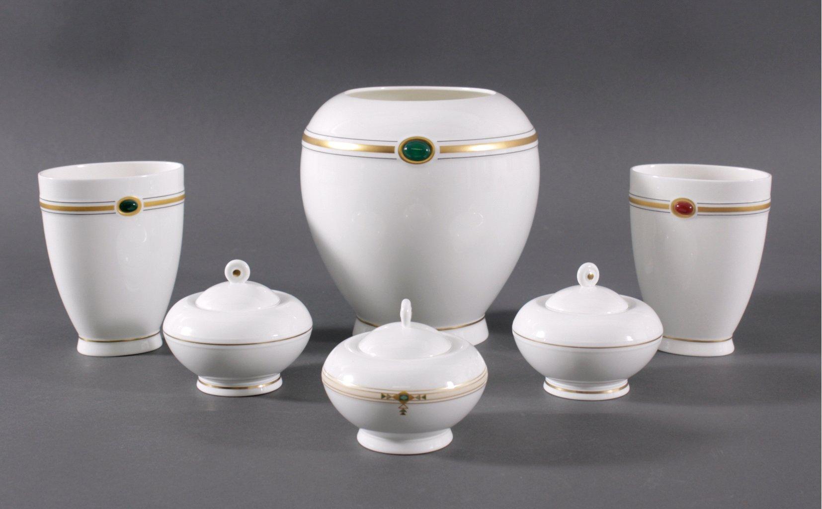 Drei Vasen und Drei Deckeldosen, Entwurf: Paloma Picasso