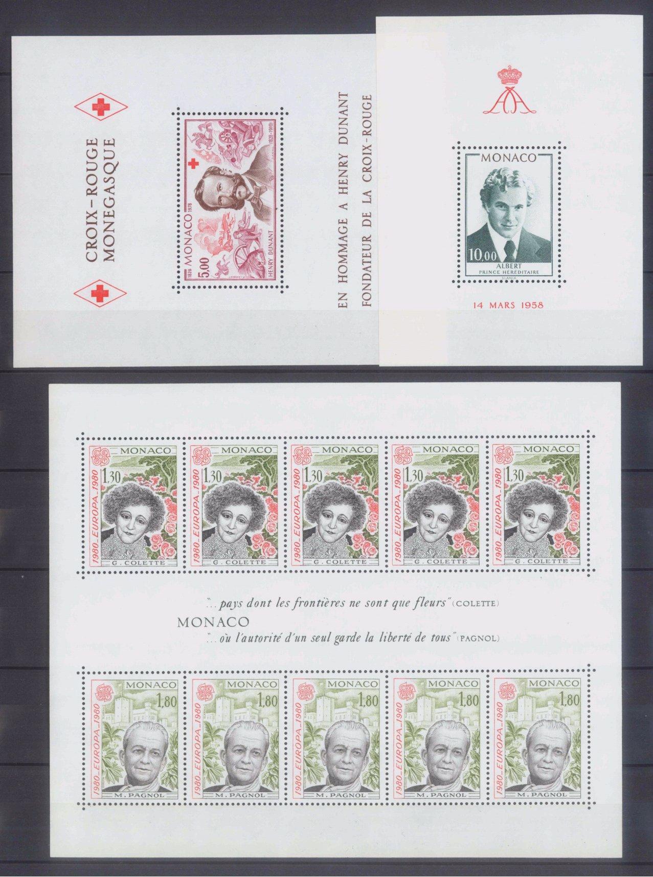 MONACO 1953-1989, Katalogwert 970,- Euro-3