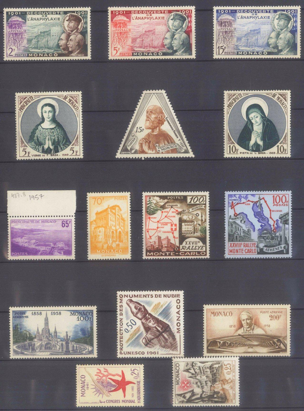 MONACO 1953-1989, Katalogwert 970,- Euro-6