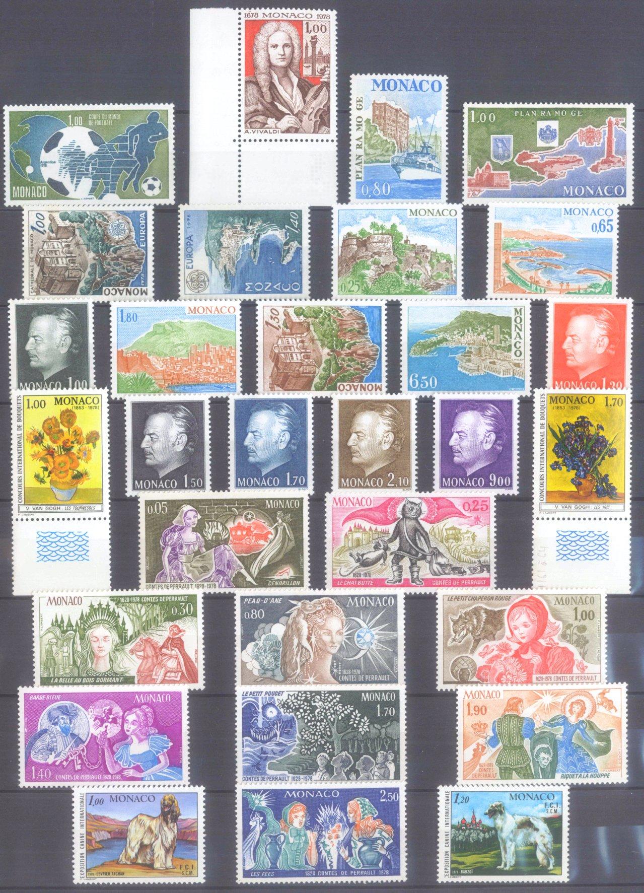 MONACO 1953-1989, Katalogwert 970,- Euro-10