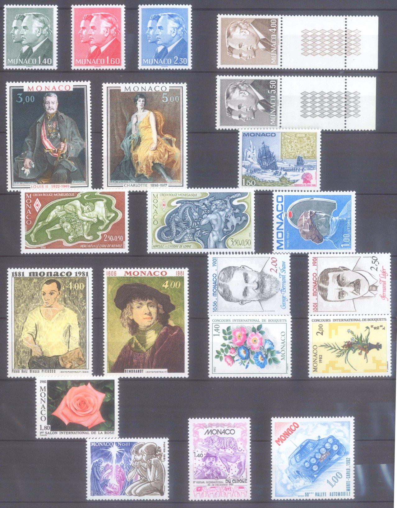 MONACO 1953-1989, Katalogwert 970,- Euro-11