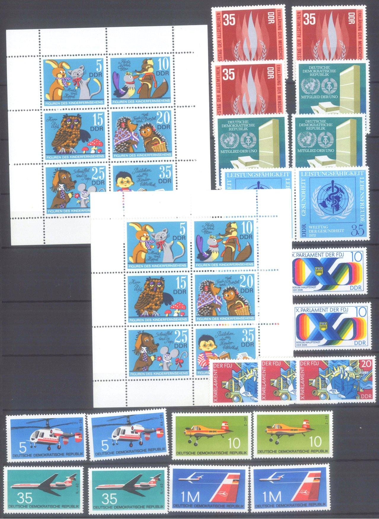 DDR postfrischer Bestand und BUND NOMINALE mit 22 EURO-6