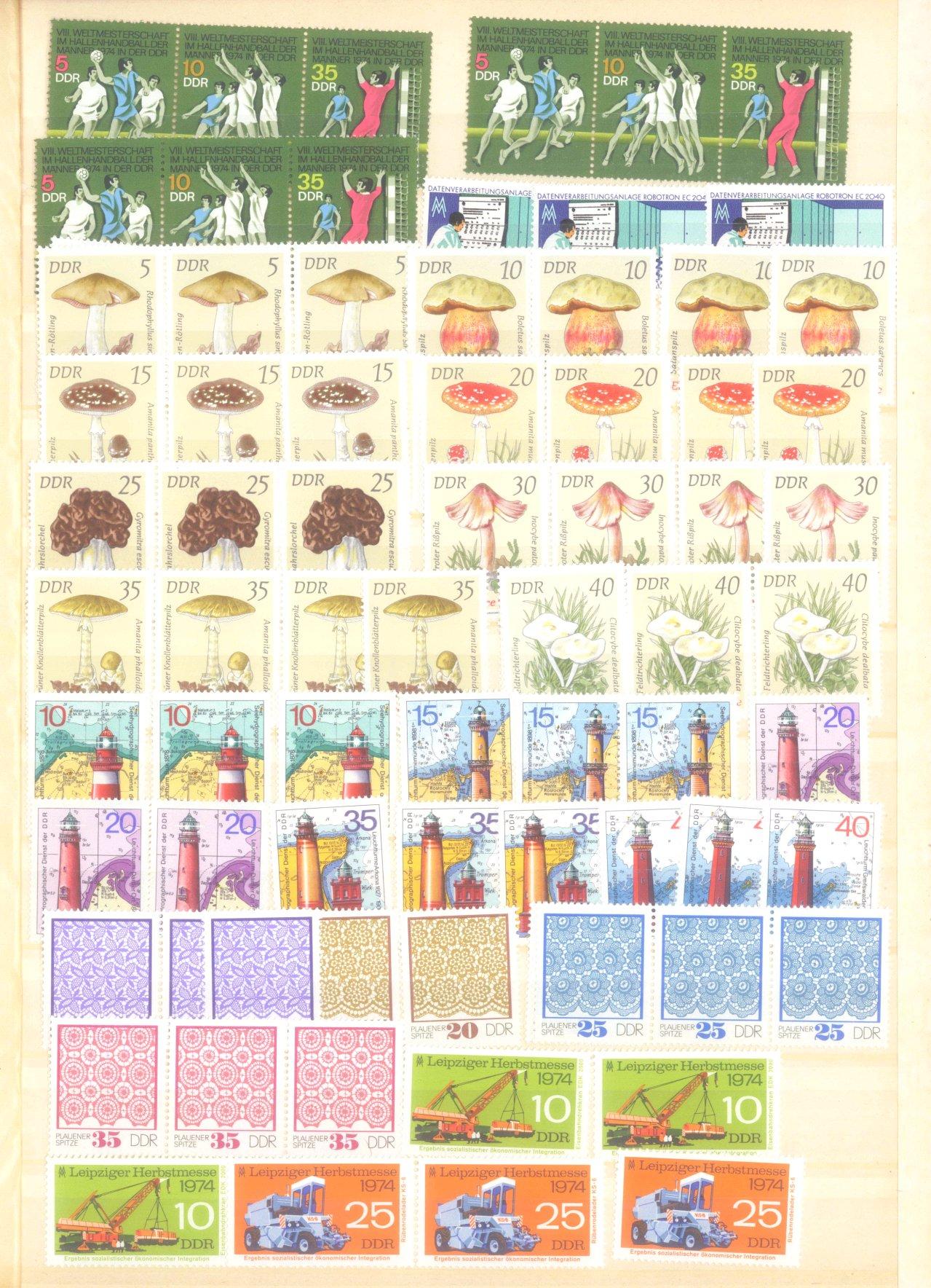 DDR postfrischer Bestand und BUND NOMINALE mit 22 EURO-12
