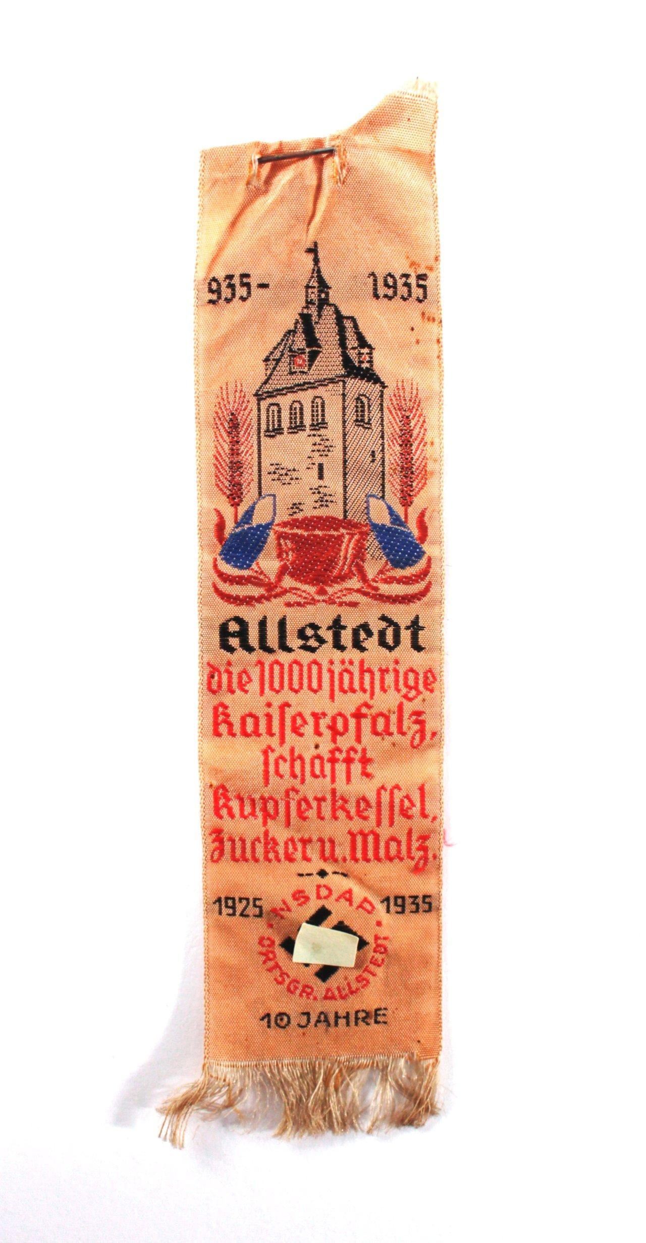 Seidenband, 1000 jährige Kaiserpfalz, Allstedt 1935