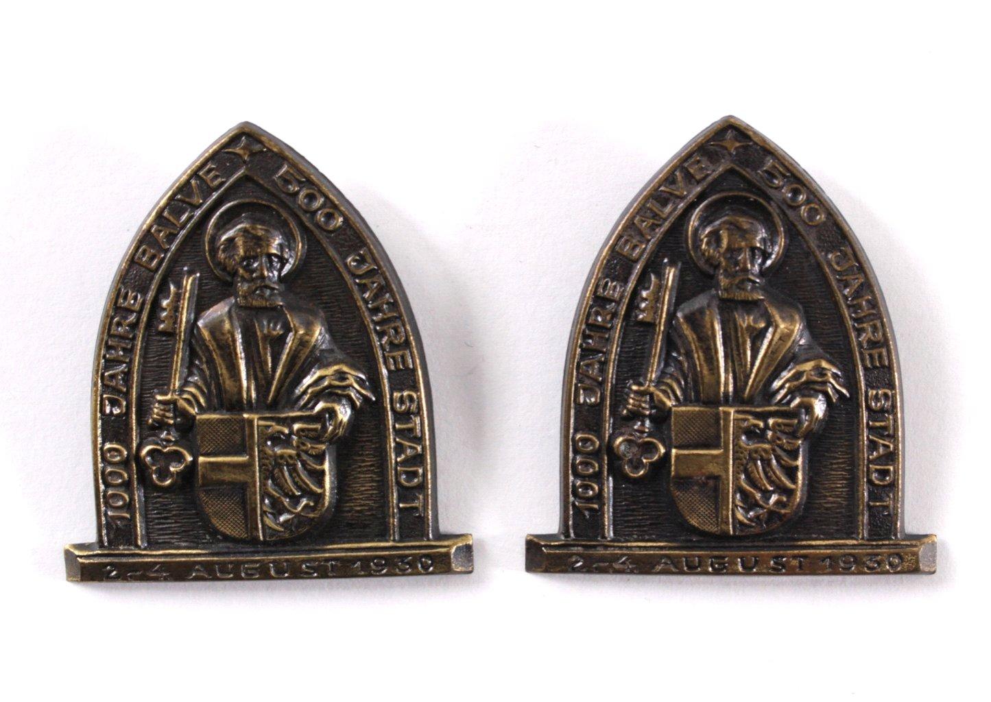 2 Veranstaltungsabzeichen 1000 Jahre Balve